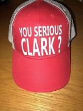 YOU SERIOUS CLARK ? Funny Trucker Cap  Christmas GRISWOLD MENS Holiday Hat