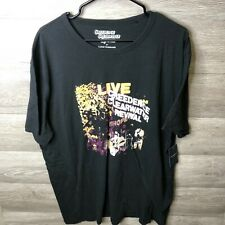 Lucky Brand Mens Size 2XL Jet Black Creedence Clearwater Revival Live In Europe