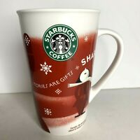 Starbucks 2010 Christmas Coffee Mug Cup Stories are Gifts Share Red Tall 16 oz