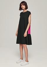 ME and EM Black & Pink Colour Block Ponte Swing Dress with Pockets UK Size 16