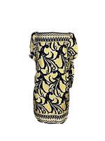 Diane Von Furstenberg DVF Womens Size 4 100% Silk Shift Dress Short Sleeves