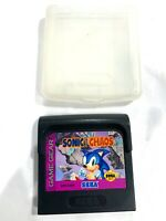 Sonic Chaos (SEGA Game Gear) W/ Clam Shell Case! Tested + Working & Authentic!