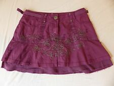 Cute little purple short skirt Next size 8, pockets, embroidery
