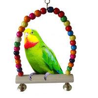Great Wooden Bird Parrot Swing Toys Parakeet Cockatiel Lovebird Budgie Cage DSUK