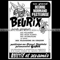 ASTERIX & Le Beurre Normand BEURIX Uderzo 1967 - Pub / Publicité / Ad #D4