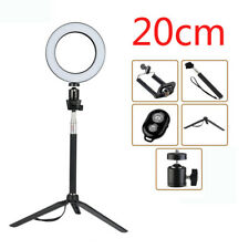 8inch Dimmable LED Ring Light Photography Selfie Light Photo Camera Youtube Live