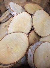 Natural Log Slice Birch Tree Bark Wedding Table Decoration Centerpiece 15-22cms