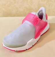 Youth Girls Sock Dart GS Athletic lifestyle Shoes Pure Platinum/Pink 904277-001