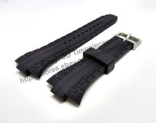 10mm Black Rubber Watch Band Strap - Pulsar PXH383 PF3505 - 7T62-X133 VX42-X124