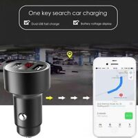 Dual USB 3.1A Car Charger Adapter LED Display Fast Charging With GPS Tracker