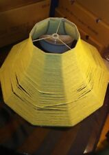 Vintage 60's-70's Retro Screw-On Bell Lampshade Wrapped w/ Beige Macrame Handmad