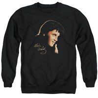 ELVIS PRESLEY WARM PORTRAIT Licensed Adult Pullover Crewneck Sweatshirt SM-3XL