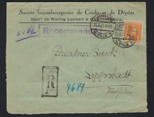 PERFIN 1923 REGISTERED letter to GERMANY ; condition see 3 scans ! LOT 236