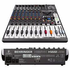 Behringer XENYX X1222USB 16-Input Live Sound Mixer Board w/ USB & Effects