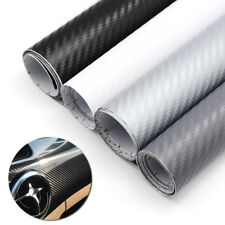 3D Carbon Fiber Vinyl Film Wrap DIY Door Handle Center Control Body Color Change