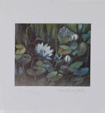 Marlene Jahn Blumen Grafik Druck Bild 15x14cm handsigniert