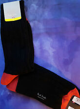 Paul Smith Mens Italian Socks Wool Alpaca Dixon Cable Thick Black K336 One Size