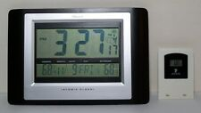 Barolo Atomic Clock With Indoor Outdoor Thermometer Sensor Wall Mount Table Top