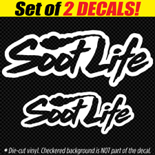 SOOT LIFE Vinyl Decal Roll Coal Lifted Truck 4x4 powerstroke Turbo Diesel HD usa