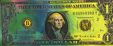 $1 Dollar Bill George Washington by Steve Kaufman SAK 20/50 15x33 Painting