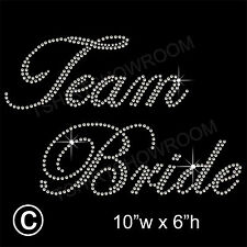 Team Bride Party Rhinestone Transfer Hotfix Iron on Motif Appliqué + a Free Gift