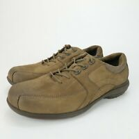 Abeo Mason Mens Brown Leather Casual Orthotic Comfort Oxford Shoes Size 8 M