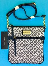 $69 Tommy Hilfiger Blue/White Crossbody OS/TU Handbag New