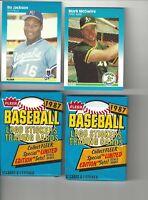 1987 Fleer Bo Jackson#369 Mark McGwire#U76 Baseball Cards + 2 Unopened Wax Packs