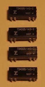Set Of 4 Relay Fujitsu Reed Dip Coil 5V - 12mA - One Contact 0,5A/100V