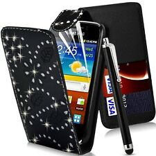 Glitter Flip Case Pouch PU Leather Cover For Samsung Galaxy Young 2 SM-G130