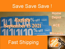 (20) Lowes 10% Off for Home Depot only - Expires September 15 2021