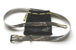 Whiting & Davis SILVER Mesh Belt Vintage As New Excellent condition