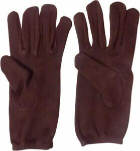Bike Riding Protective Cotton Brown Gloves Half hand for Men and Women Pack of 1