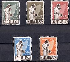 ITALIA Somalia AFIS 5 Stamps Inaugurazione della 1 Assemblea legislativa 1956