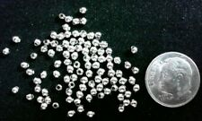 White gold plated 2.4mm round seamed spacer beads 100 pcs in each lot fpb095