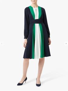 LADIES HOBBS LYLA DRESS IN NAVY/MULTI UK SZ 16 BNWT RRP £189