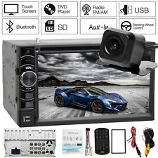 Double 2DIN HD Car Stereo Radio MP3 Player Bluetooth Touch Screen + Camera Hot!