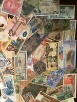 Uncirc/Circ Lot of 10 different Foreign PAPER MONEY BANKNOTES WORLD CURRENCY