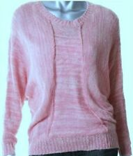 NWT Alfani Women's Pink White Dolman Sleeve Knit Sweater Size: XL