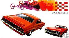1970 Mercury CYCLONE SPOILER GT, Orange, Refrigerator Magnet, 40 MIL
