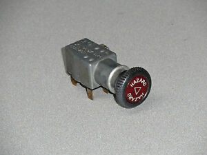 EXCELLENT USED ORIGINAL GENUINE PORSCHE 914 HAZARD WARNING FLASHER SWITCH NLA