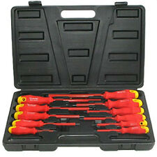 Electricians Screwdriver Set Tool Electrical Fully Insulated 11 Pc with Kit Case