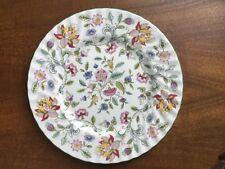 """Minton Haddon Hall B1451 Floral Chintz, Green Trim Dinner Plate (s) 10 5/8"""" MINT"""