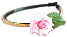 Rose flower flores Tiki rockabilly diadema vintage 50s rosa accesorios