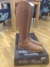Brown Harry's Horse Cognac Elite Range Leather Riding Boots Size 8 Uk 42 Wide