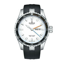 NEW Edox Grand Ocean Swiss Automatic Rubber Strap Watch 88002 3ORC ABUN