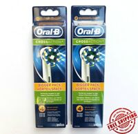 8 ORAL B Braun Cross Action Electric Toothbrush Replacement HEADS EB50-4