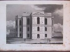 GRAVURE 1839 PARIS L'OBSERVATOIRE ROYAL COTE NORD