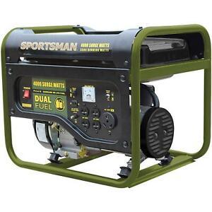 4000-Watt Recoil Start Dual Fuel Portable Generator For Home Backup RV Camping