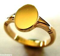 Kaedesigns New Genuine NEW 9CT 9K YELLOW GOLD OVAL SIGNET RING